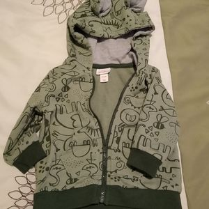 Size 6-9M boys hoodie with cute ears